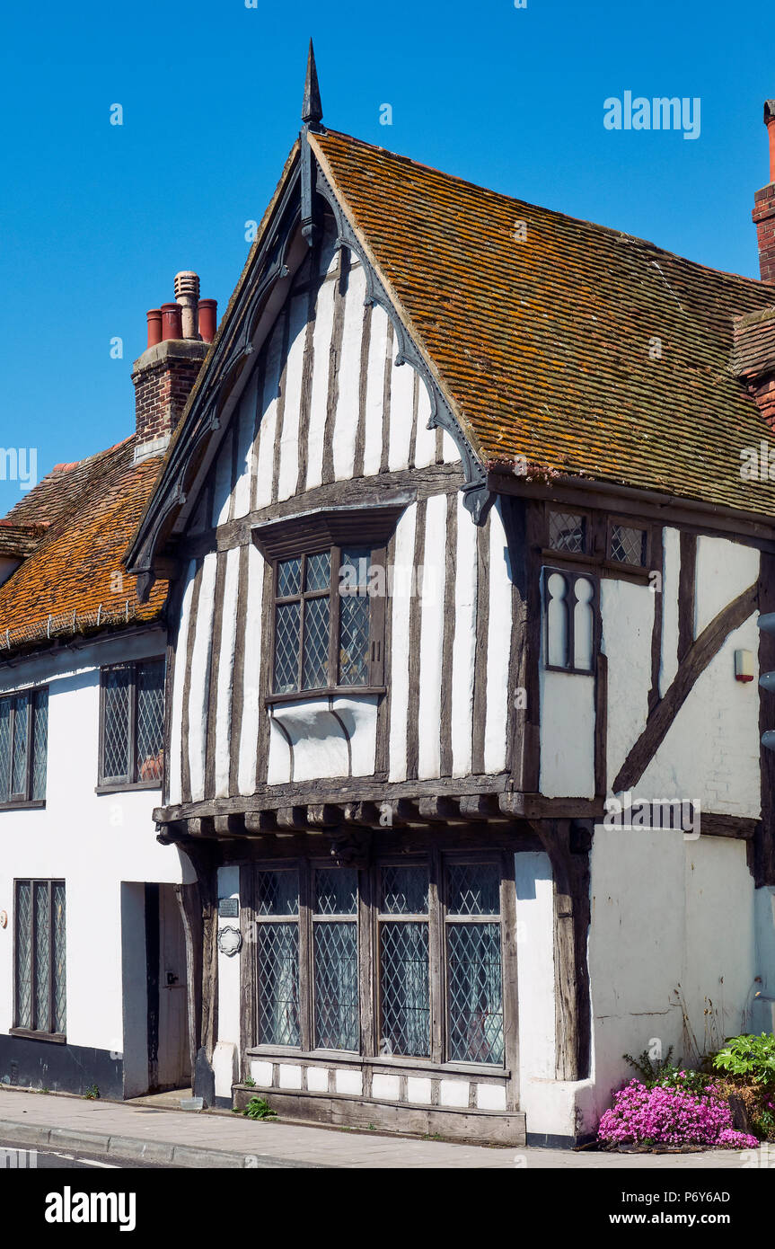 The 15th century Old Court Hall in Hastings Old Town, East Sussex, UK - Stock Image