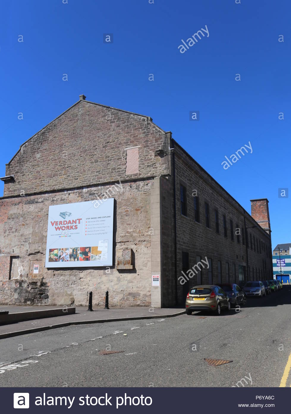 Exterior of Verdant Works Jute Mill Museum Dundee Scotland  July 2018 - Stock Image