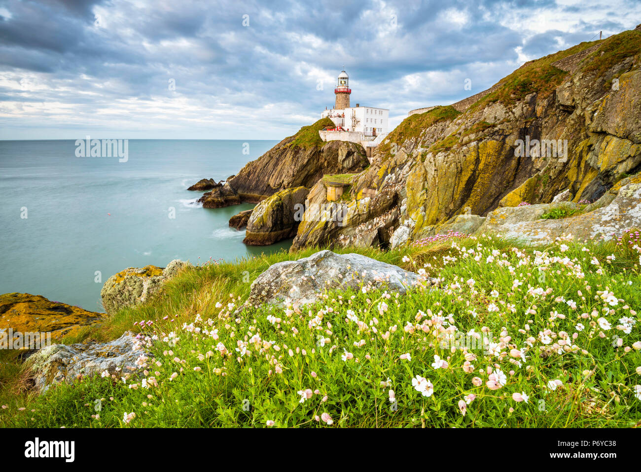 Baily lighthouse, Howth, County Dublin, Ireland, Europe. - Stock Image