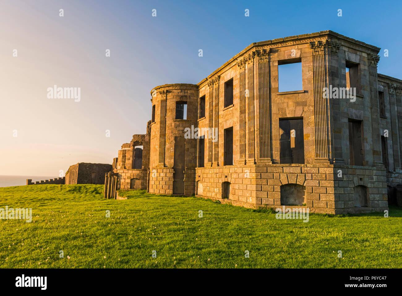 Downhill Castle, Castlerock, County Antrim, Ulster region, northern Ireland, United Kingdom. - Stock Image