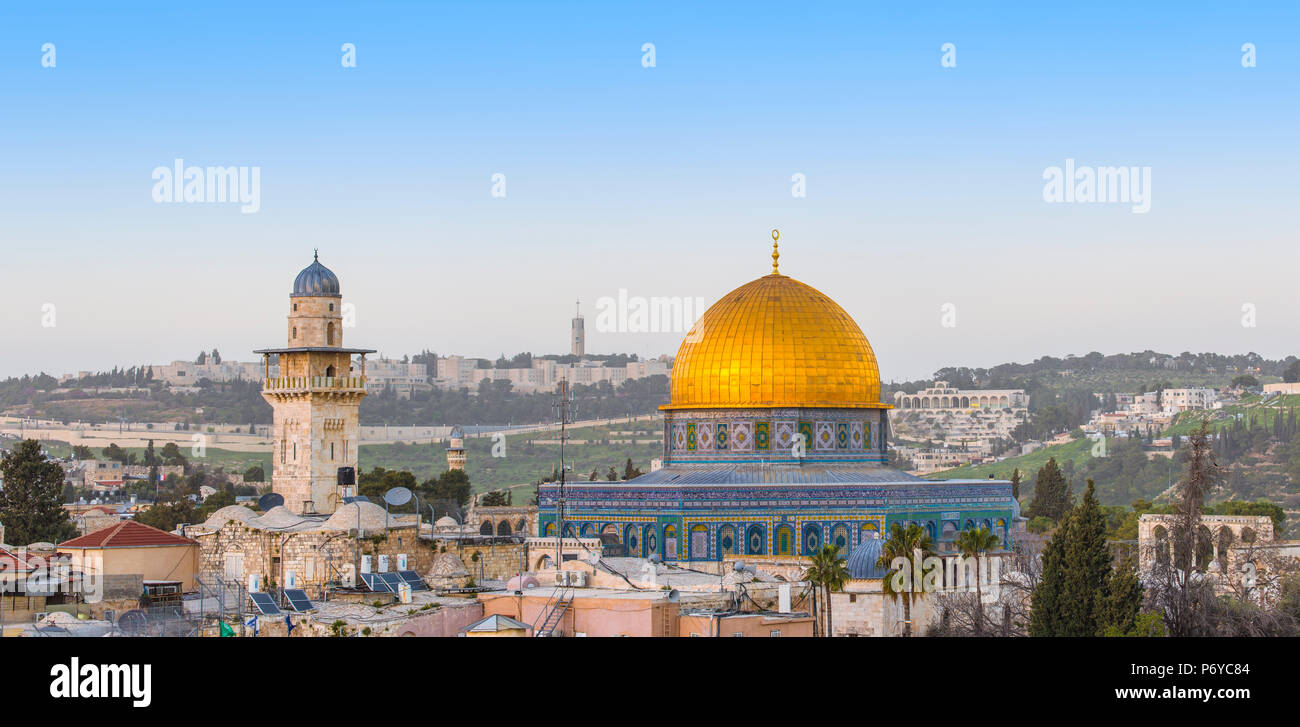 Israel, Jerusalem, Old City, Temple Mount, Dome of the Rock Stock Photo