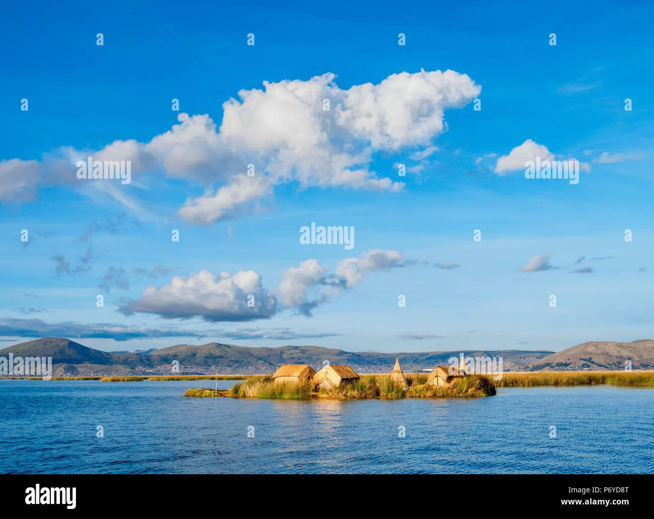 Uros Floating Island, Lake Titicaca, Puno Region, Peru - Stock Image