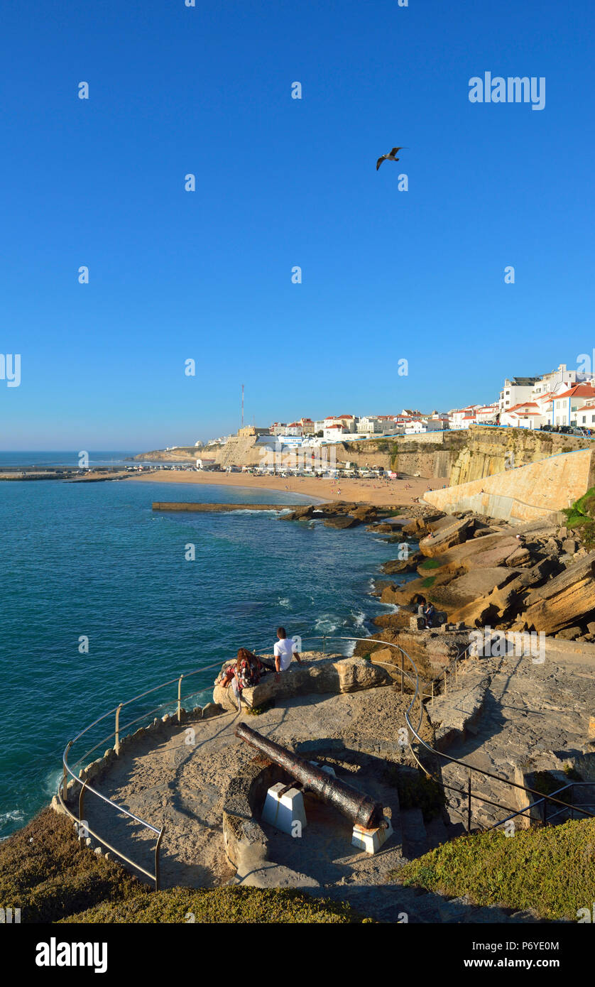 The village of Ericeira overlooking the Atlantic Ocean. Portugal (MR) - Stock Image