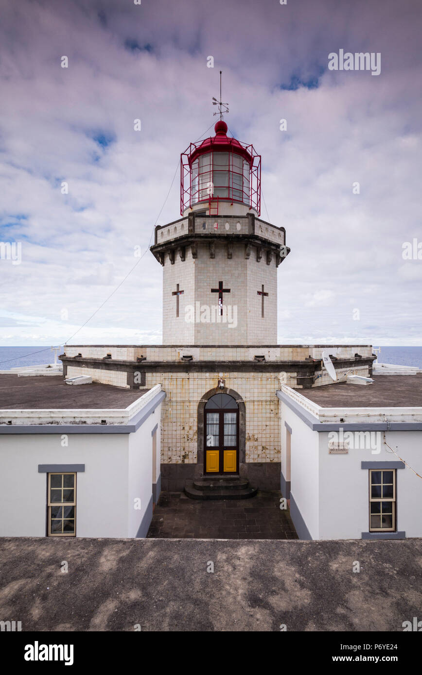Portugal, Azores, Sao Miguel Island, Nordeste, Ponta do Arnel Lighthouse - Stock Image