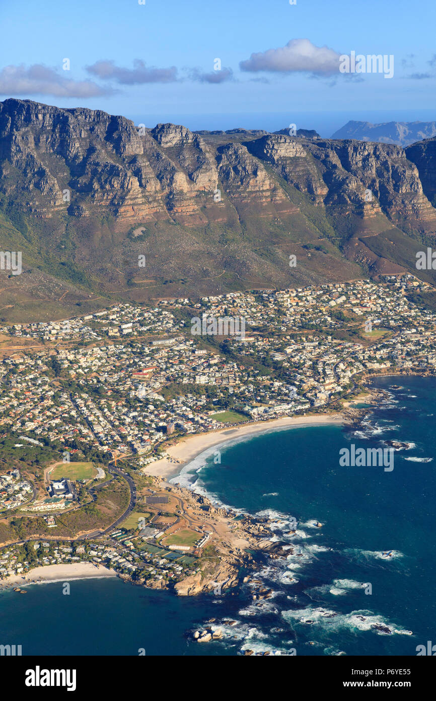 South Africa, Western Cape, Aerial view of Cape Town Coastal aerea - Stock Image