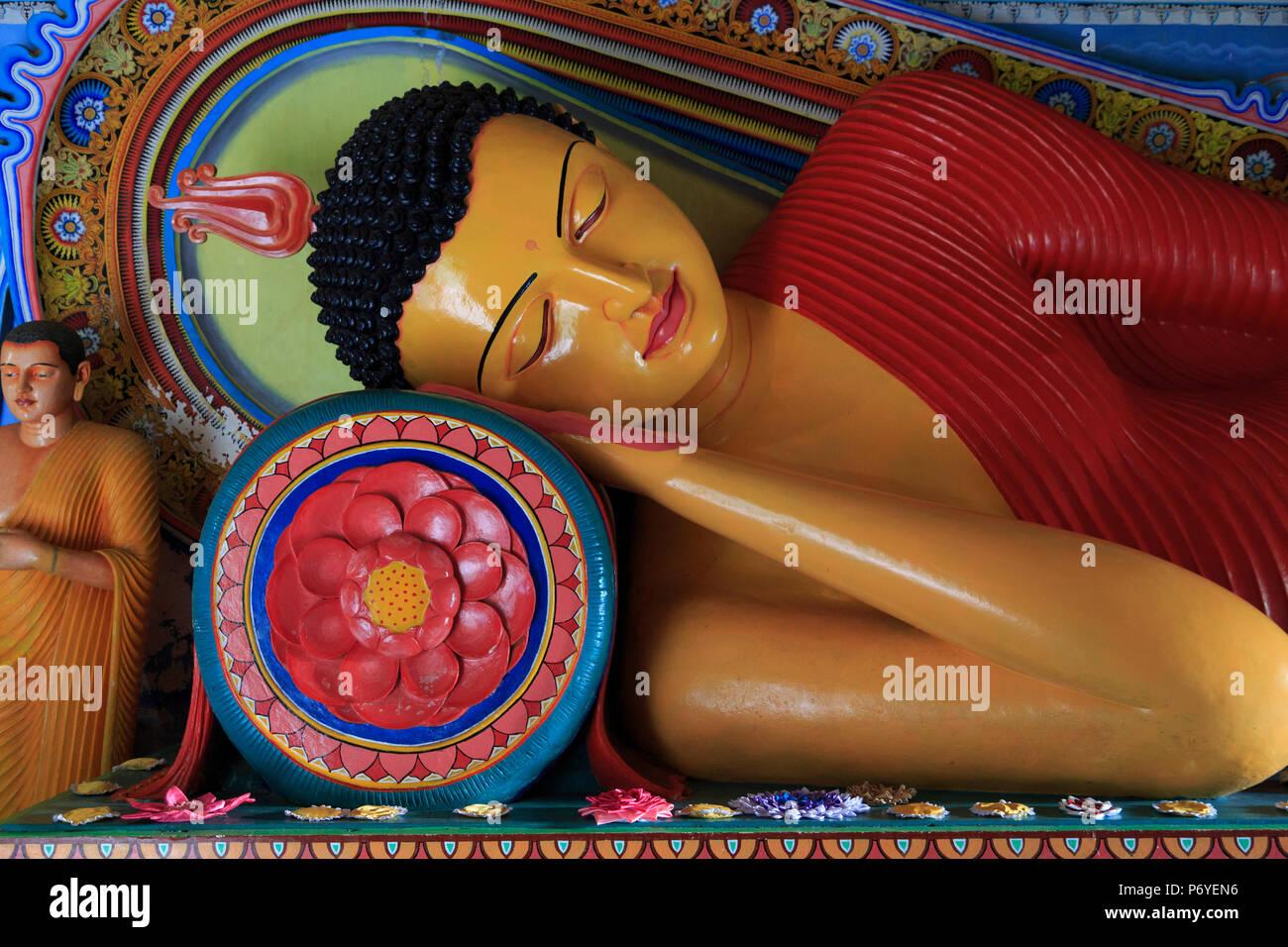 Sri Lanka, Anuradhapura (Unesco Site), Isurumuniya Temple, Reclining Buddha Stock Photo