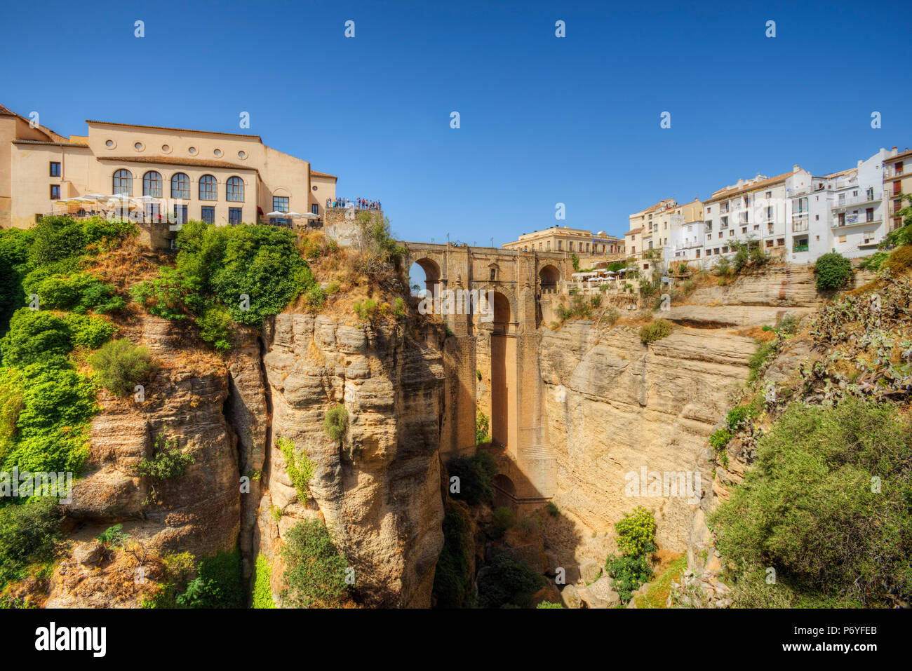 Puente Nuevo Bridge over the Tajo Gorge, Ronda, Andalusia, Spain Stock Photo