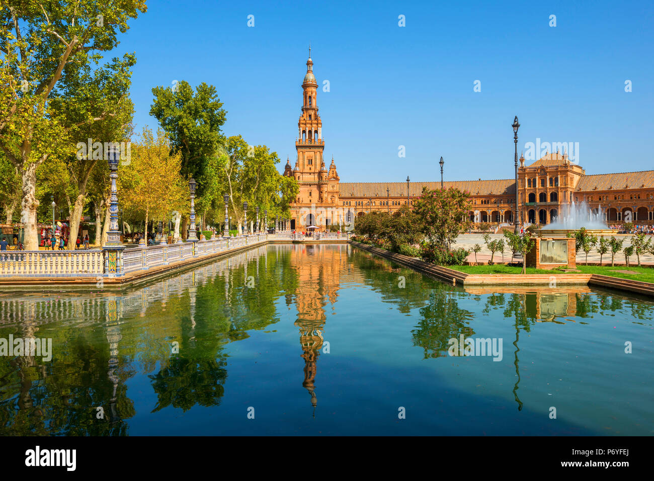 Plaza de Espana, Sevilla, Andalusia, Spain - Stock Image