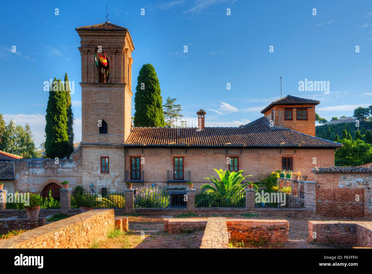 Convent of San Francisco, Alhambra, UNESCO World Heritage Site, Granada, Spain - Stock Image
