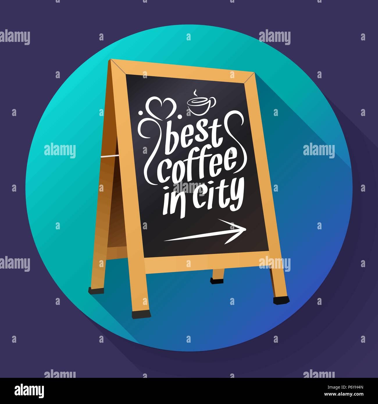 Vector Wooden Advertising Street Sandwich Stand Sidewalk Sign Black Menu Board, street Chalkboard blackboard icon - Stock Vector