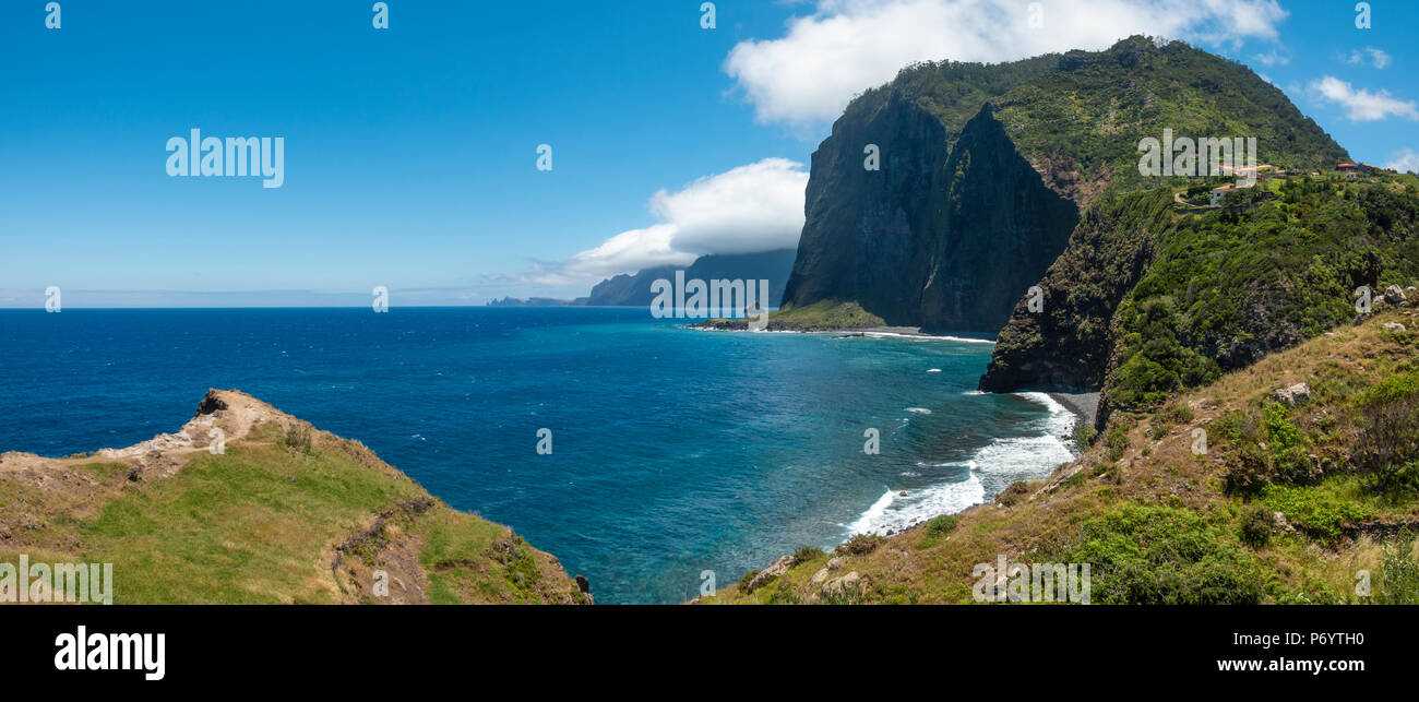 Crane viewpoint nr Faial on the North East coast of Madeira - Stock Image