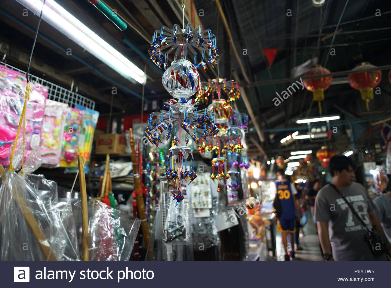 Klong Suan100 Year Old Market.Old market style at  chachoengsao, Thailand 29May2018 - Stock Image
