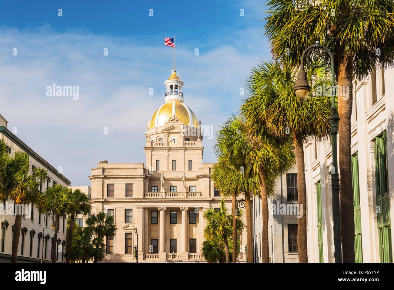 USA, Georgia, Savanah, Town Hall - Stock Image