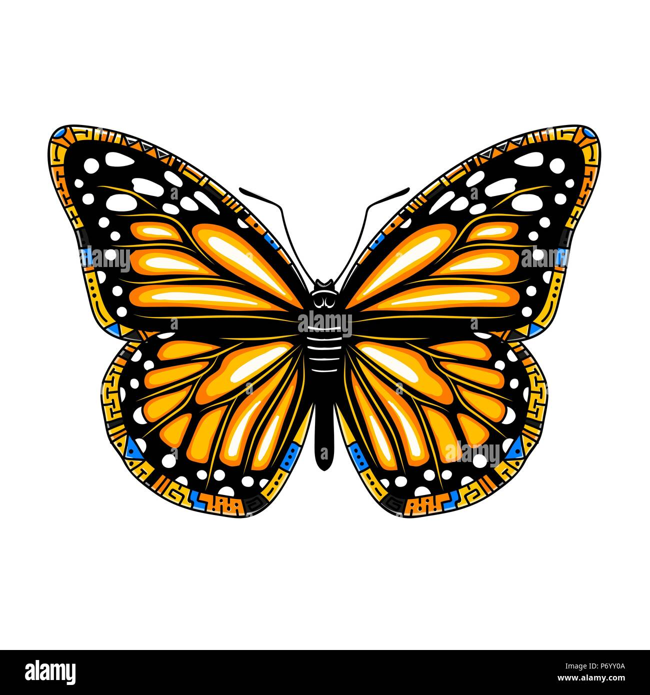 356dce635 Vector beautiful swallowtail boho t-shirt design. Mystical esoteric symbol  of freedom, travel, tourism.