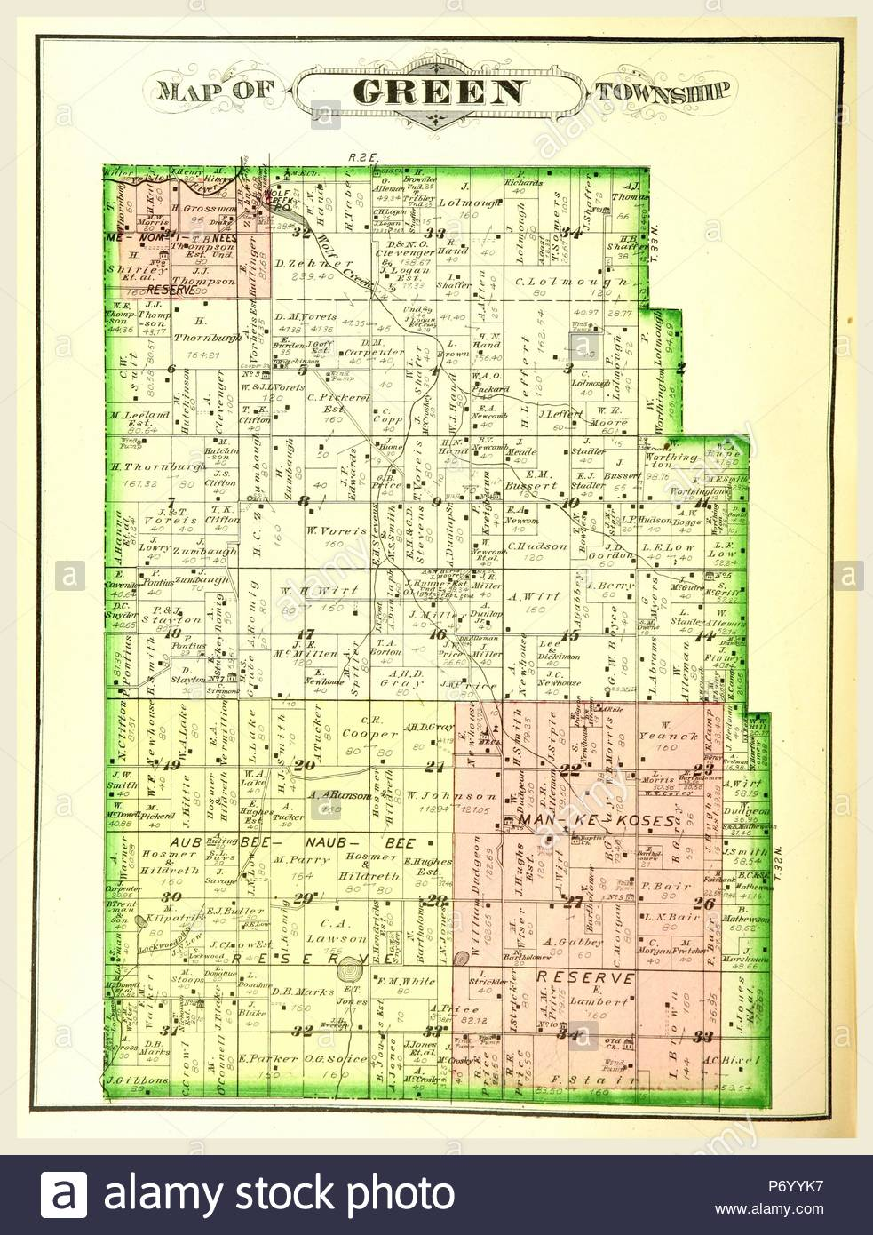 Map Of Green Township History Of Marshall County Indiana 1836 To - 1880-map-of-us