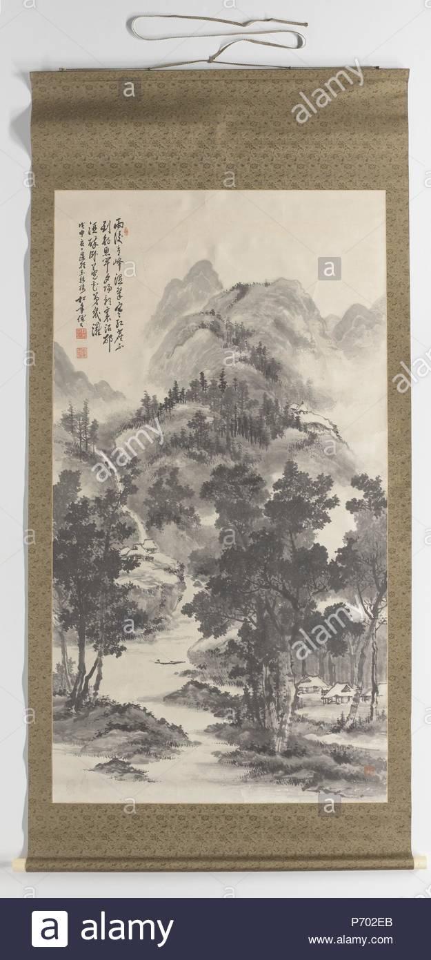 Summer landscape, Suzuki Shonen, 1908. - Stock Image