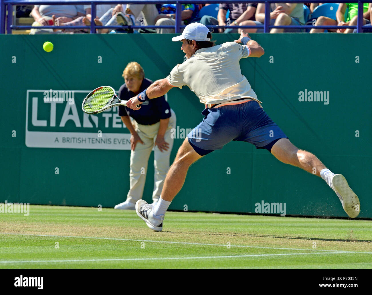 Mischa Zverev (GER) playing in the final of the Nature Valley International, Eastbourne 30th June 2018 - Stock Image