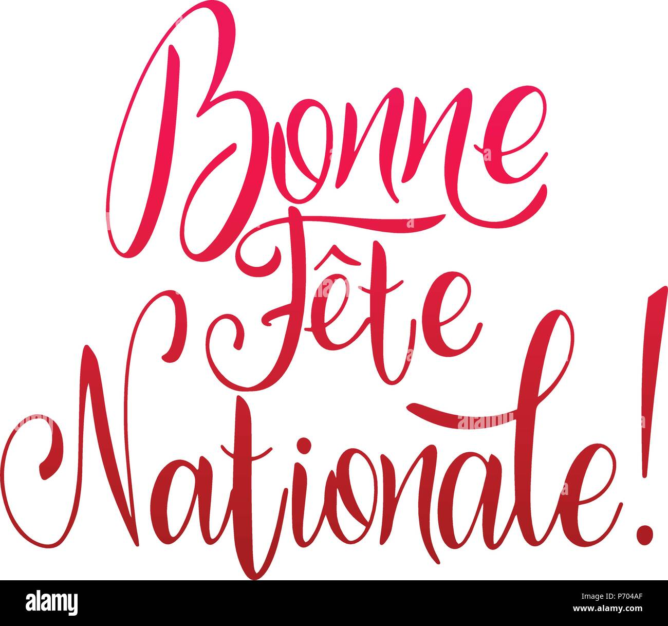 Bastille day hand drawn lettering happy national day on french bastille day hand drawn lettering happy national day on french bonne fete nationale vector elements for invitations posters greeting cards m4hsunfo