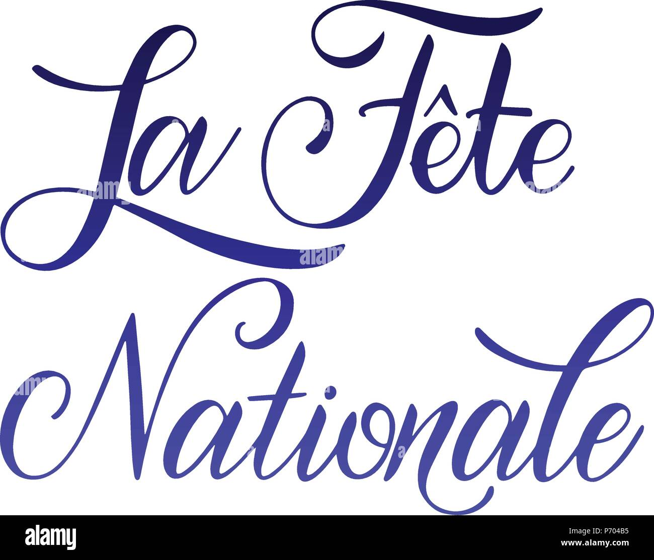 Bastille day hand drawn lettering the national day on french la bastille day hand drawn lettering the national day on french la fete nationale vector elements for invitations posters greeting cards t shirt design m4hsunfo