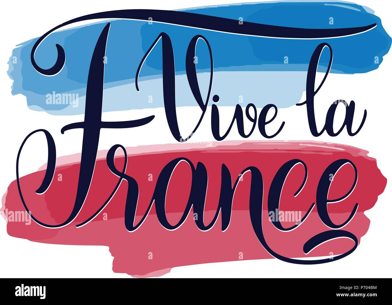 Bastille day hand drawn lettering long live france on french vive bastille day hand drawn lettering long live france on french vive la france vector elements for invitations posters greeting cards t shirt design m4hsunfo