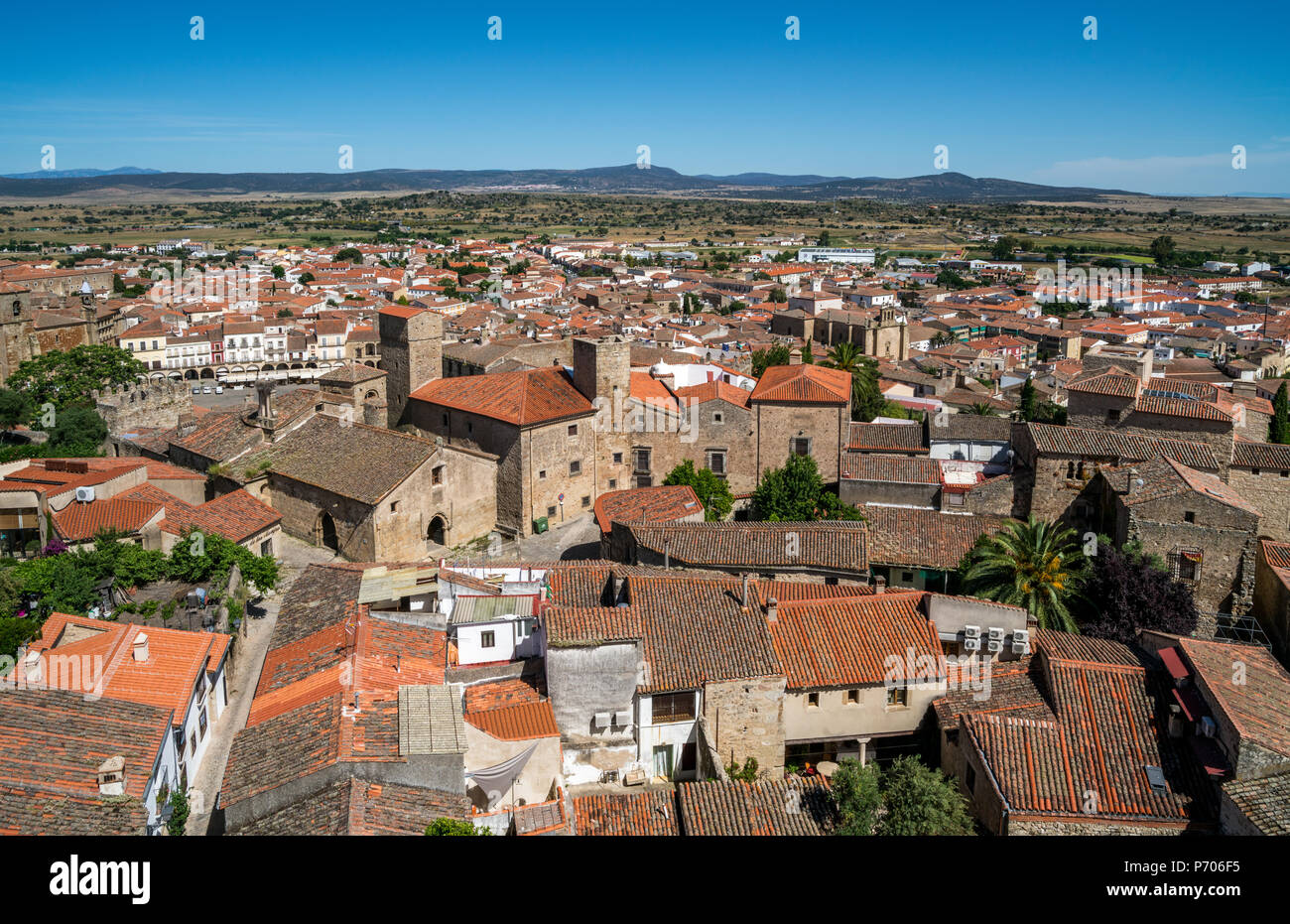 Alcázar de Luis de Chaves el Viejo in Trujillo, Extremadura, Spain - Stock Image