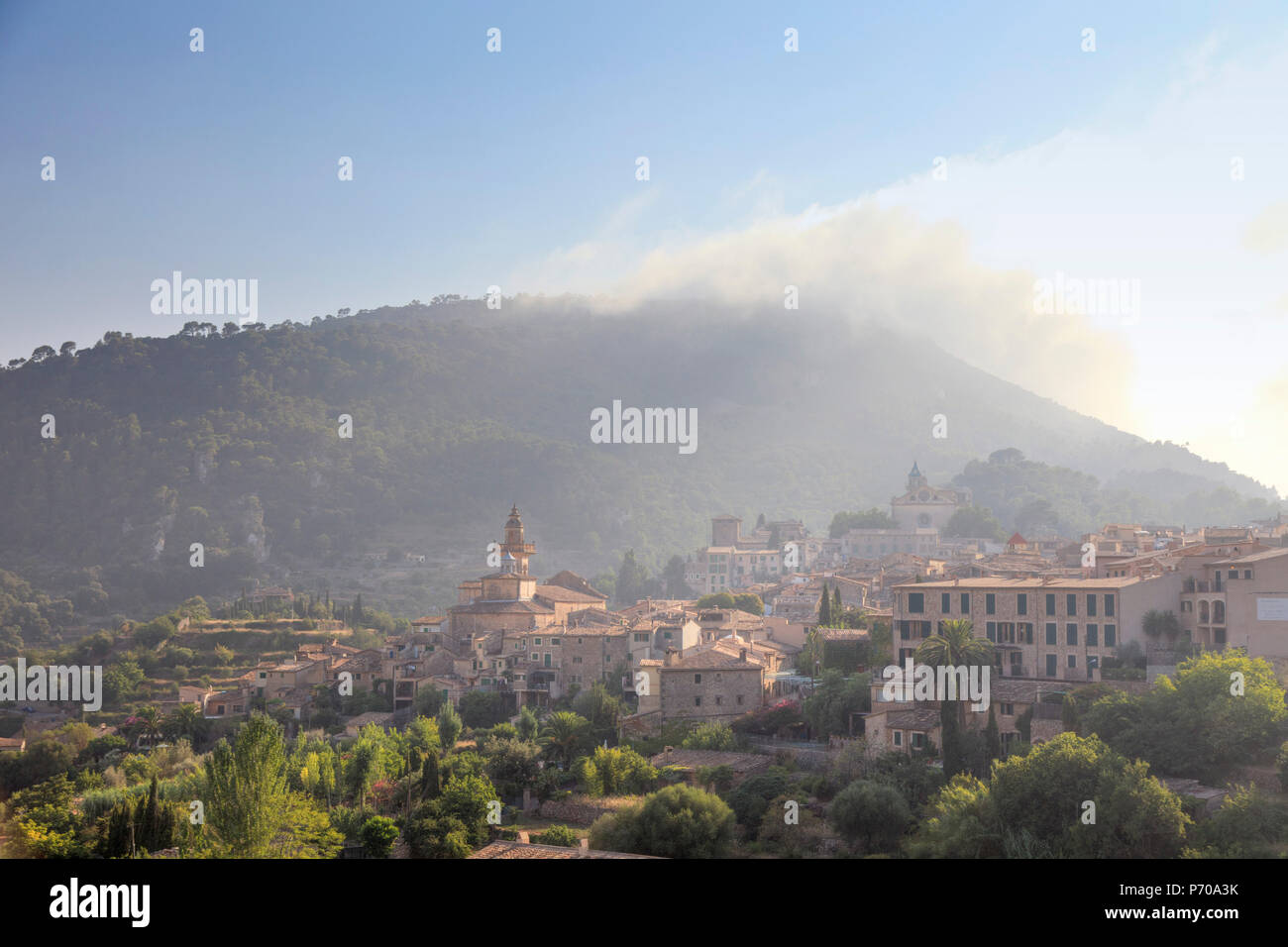 Spain, Balearic Islands, Mallorca, Valldemossa Mountain Village Stock Photo