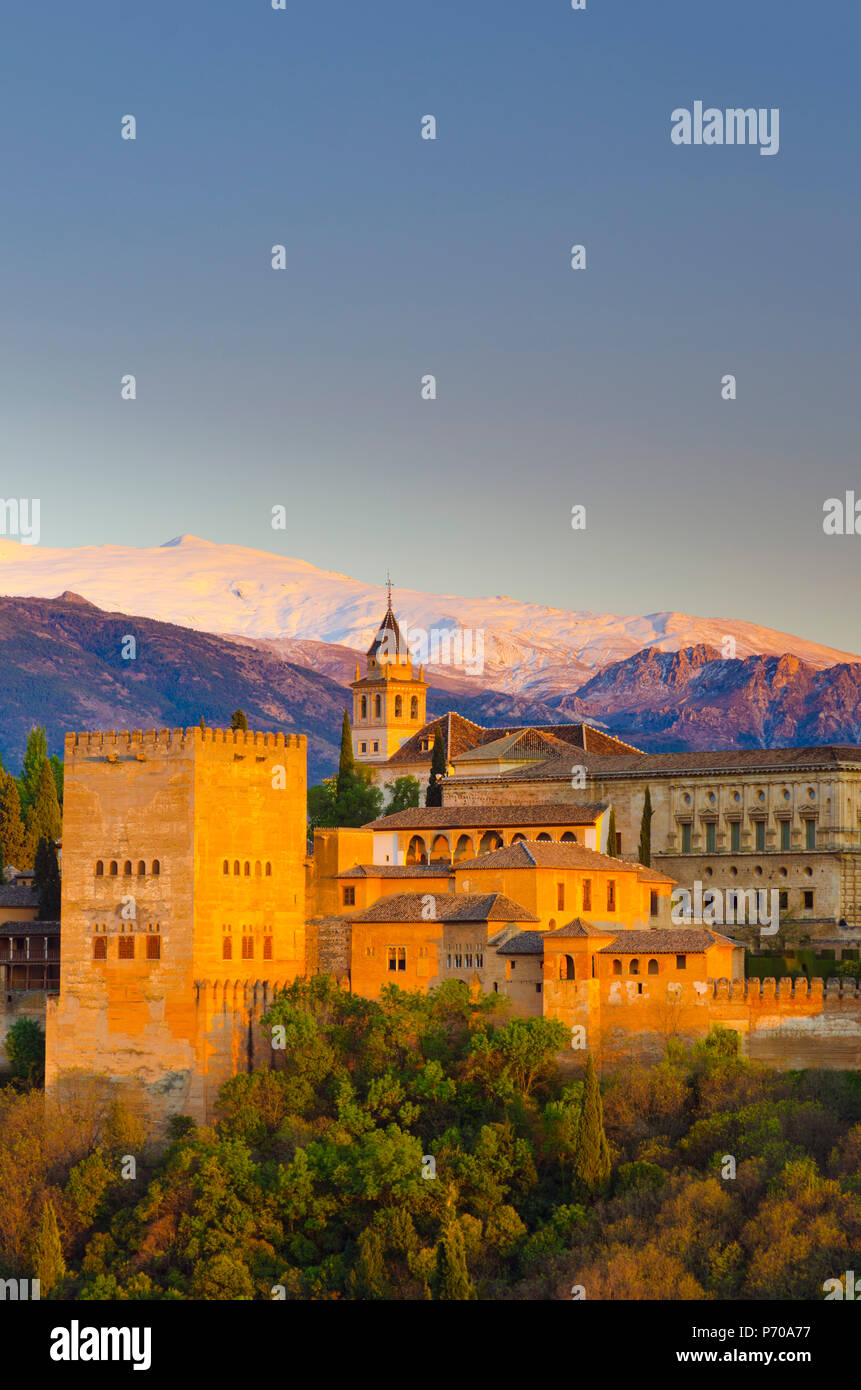 Spain, Andalucia, Granada Province, Granada, Alhambra Palace Stock Photo