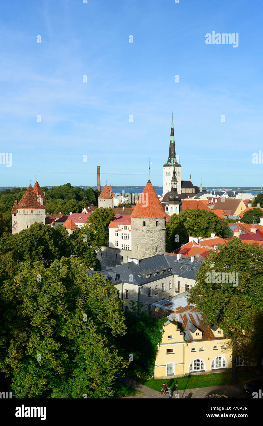 Old Town view from Toompea Hill, a Unesco World Heritage Site. Tallinn, Estonia Stock Photo