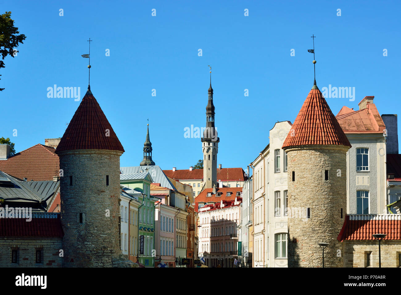 Viru street in the Old Town of Tallinn, a Unesco World Heritage Site. Tallinn, Estonia Stock Photo