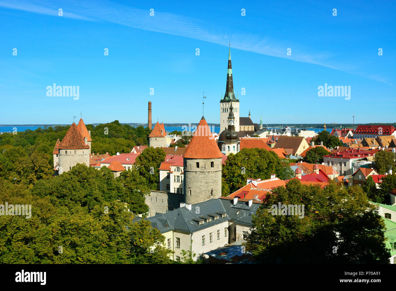 Old Town of Tallinn, a Unesco World Heritage Site. Tallinn, Estonia - Stock Image