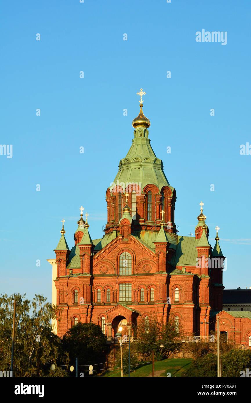 Uspenski Orthodox Cathedral. Helsinki, Finland - Stock Image