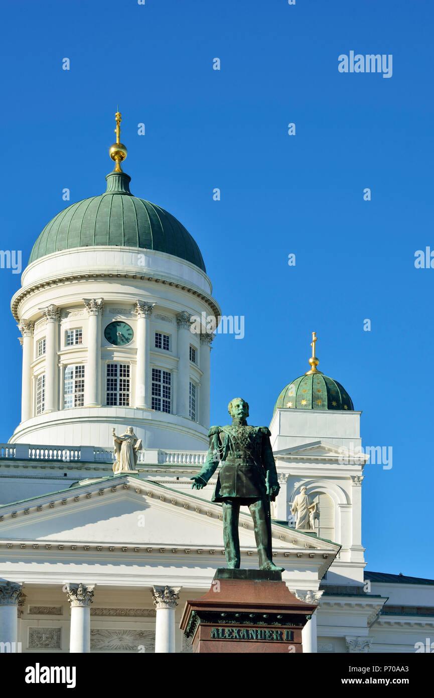 Tuomiokirko, the Lutheran Cathedral. Helsinki, Finland - Stock Image