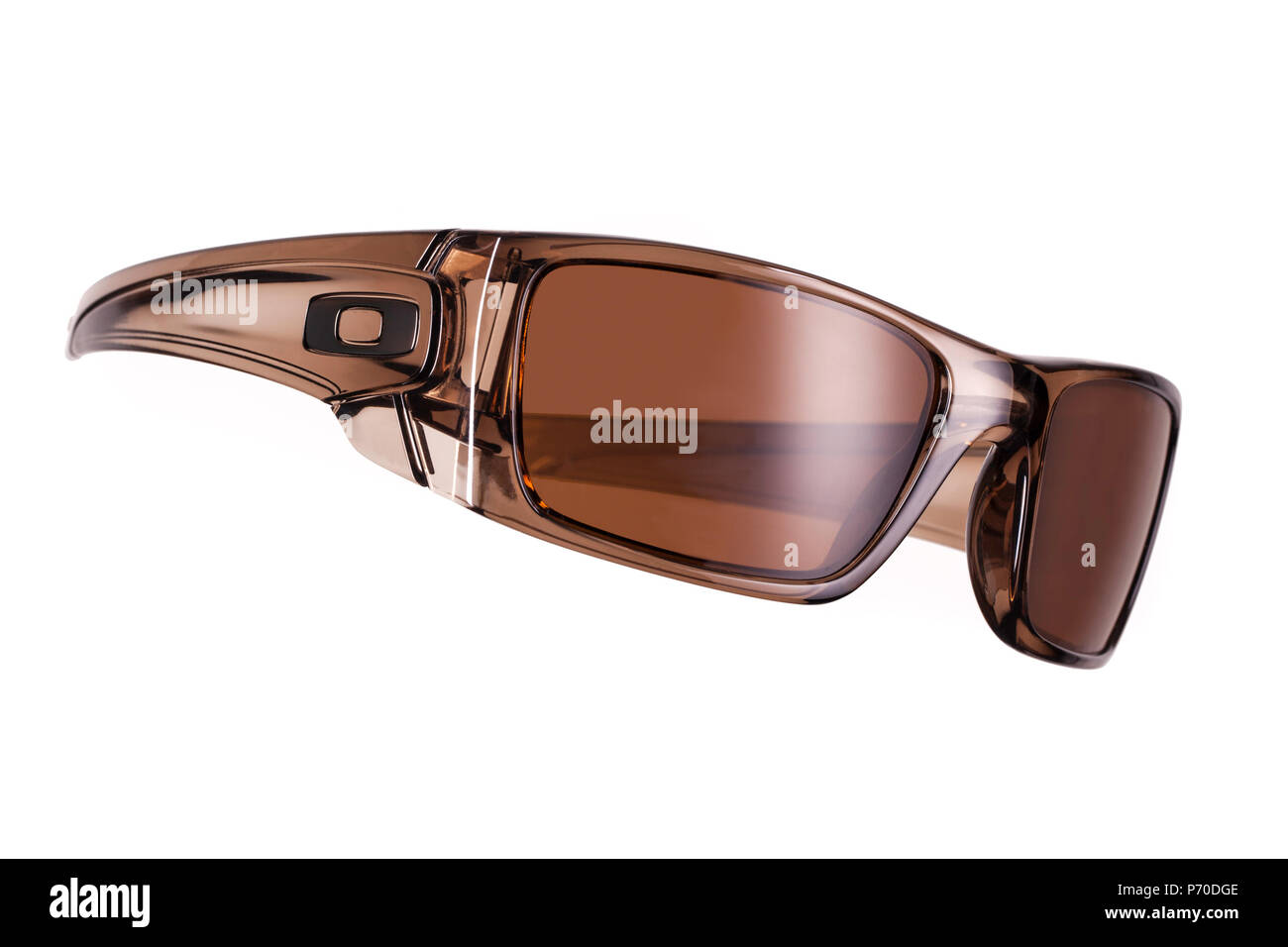 d658db790a Oakley Fuel Cell Brown Smoke sunglasses on a white background - Stock Image