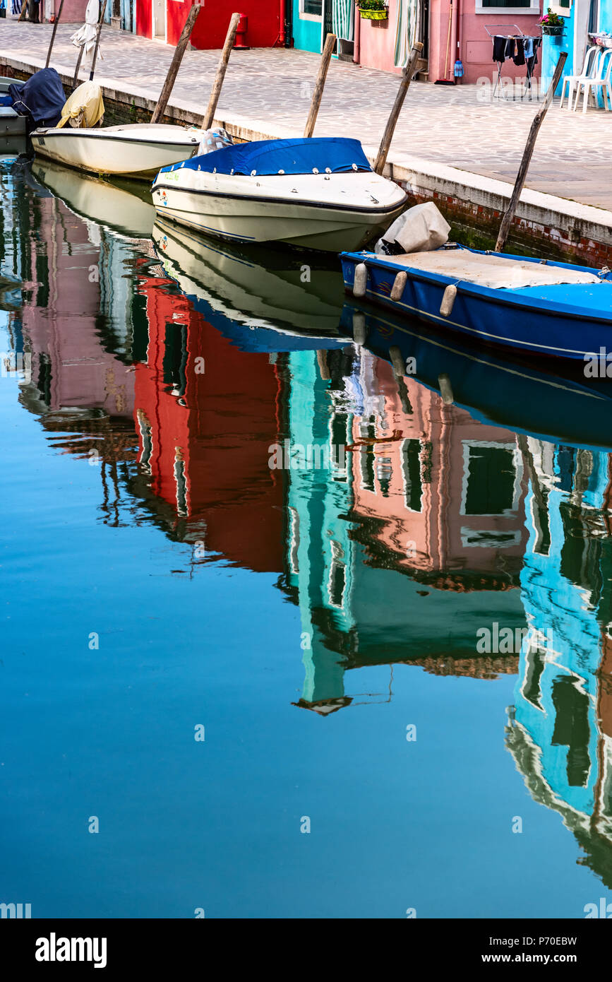 Burano, Venice Italy, taken during the spring. - Stock Image