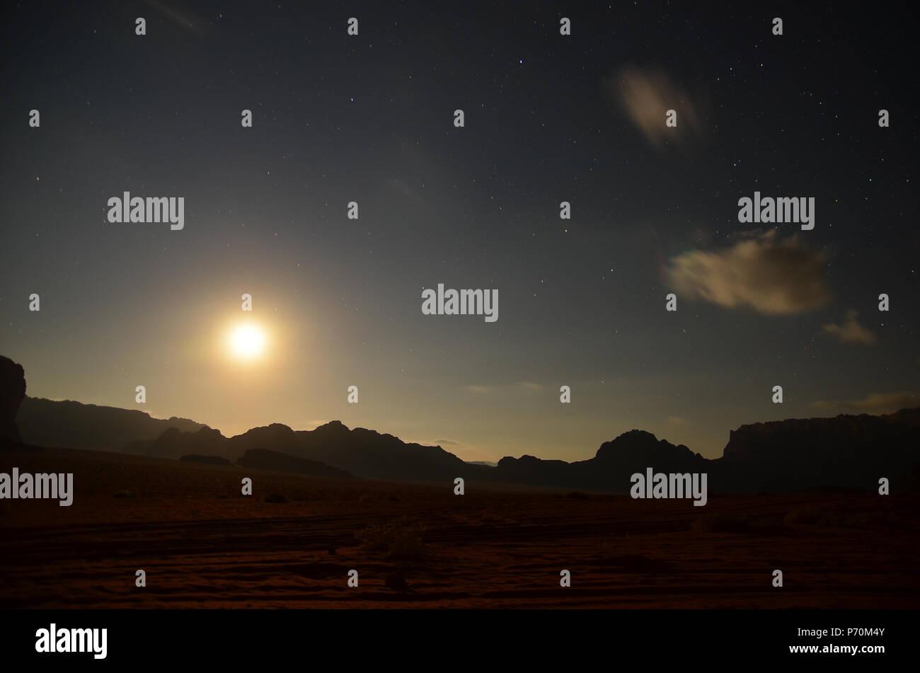 Red sand desert. Inspire the nature of the beauty scenery in desert Stock Photo