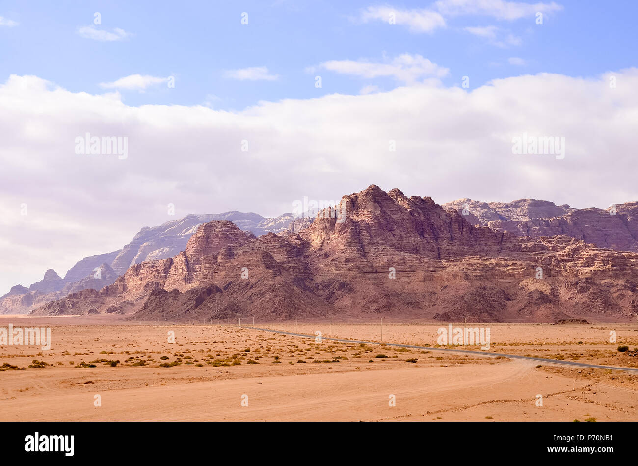 Red sand desert. Inspire the nature of the beauty scenery in desert Stock Photo