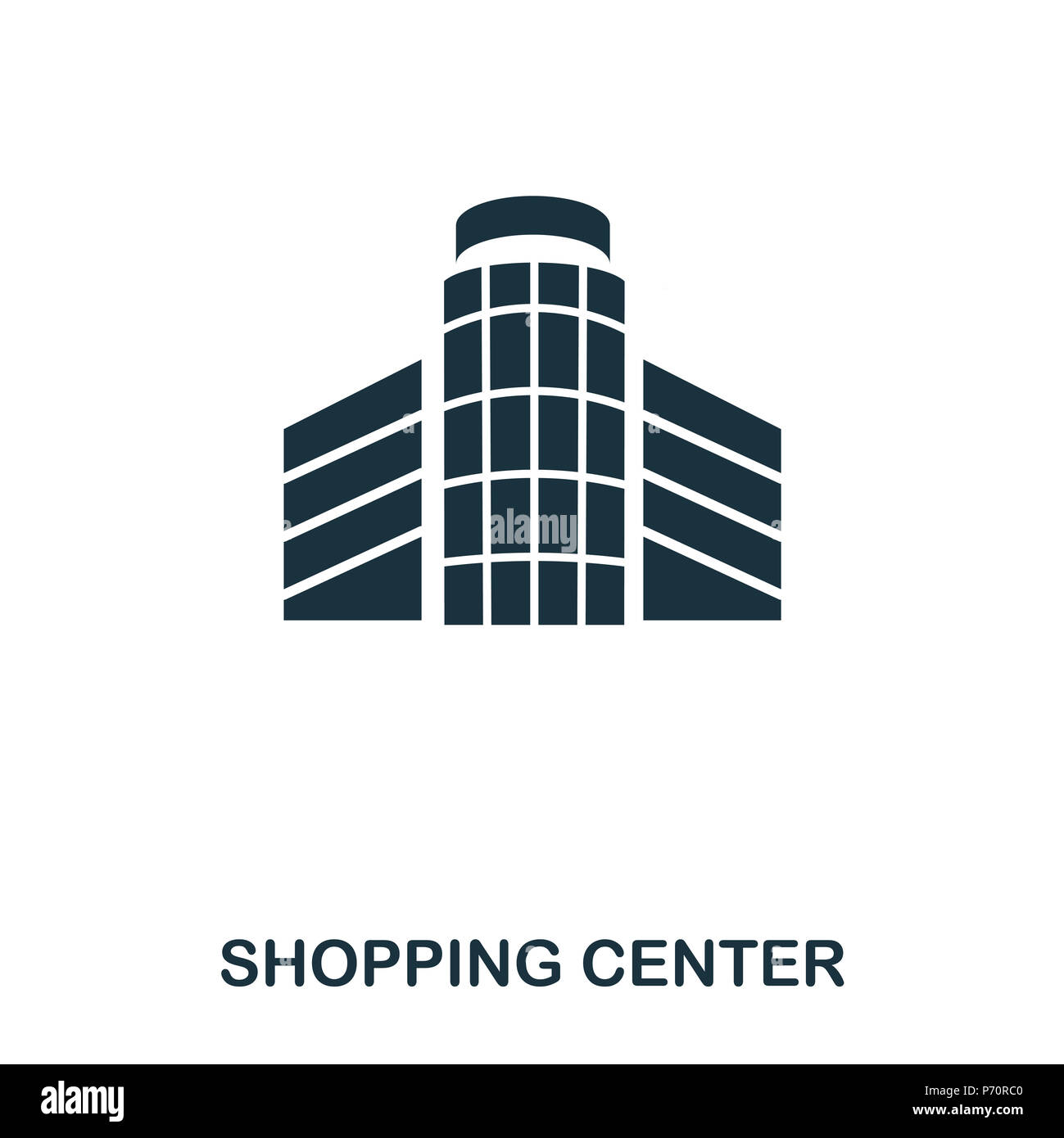 Shopping Center icon. Line style icon design. UI. Illustration of shopping center icon. Pictogram isolated on white. Ready to use in web design, apps, - Stock Image