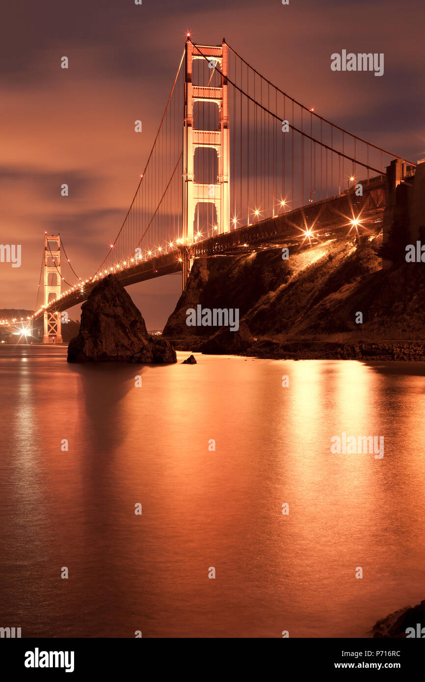 The Golden Gate Bridge, San Francisco, California, USA - Stock Image
