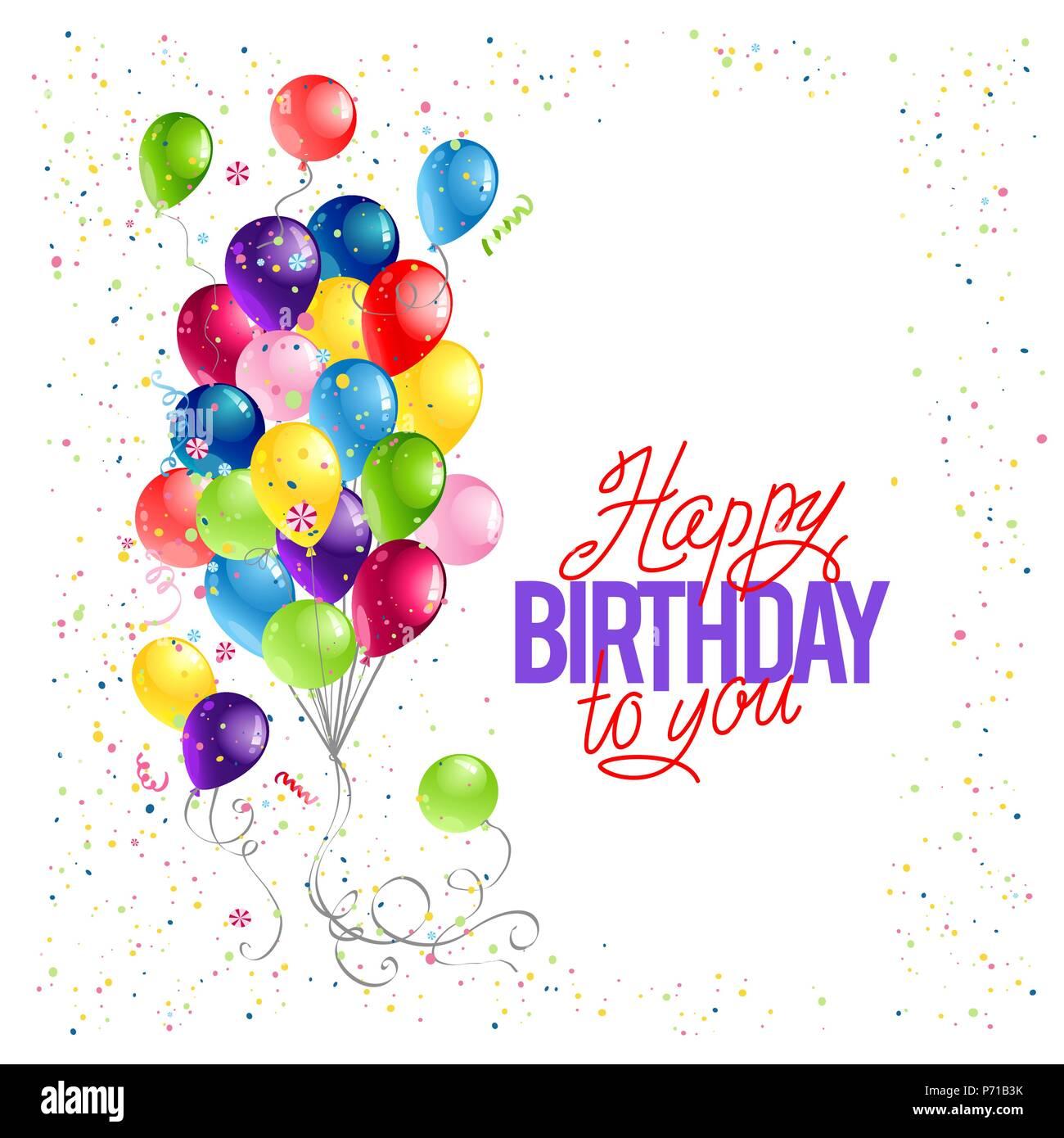 Happy Birthday Card Template Stock Vector Art