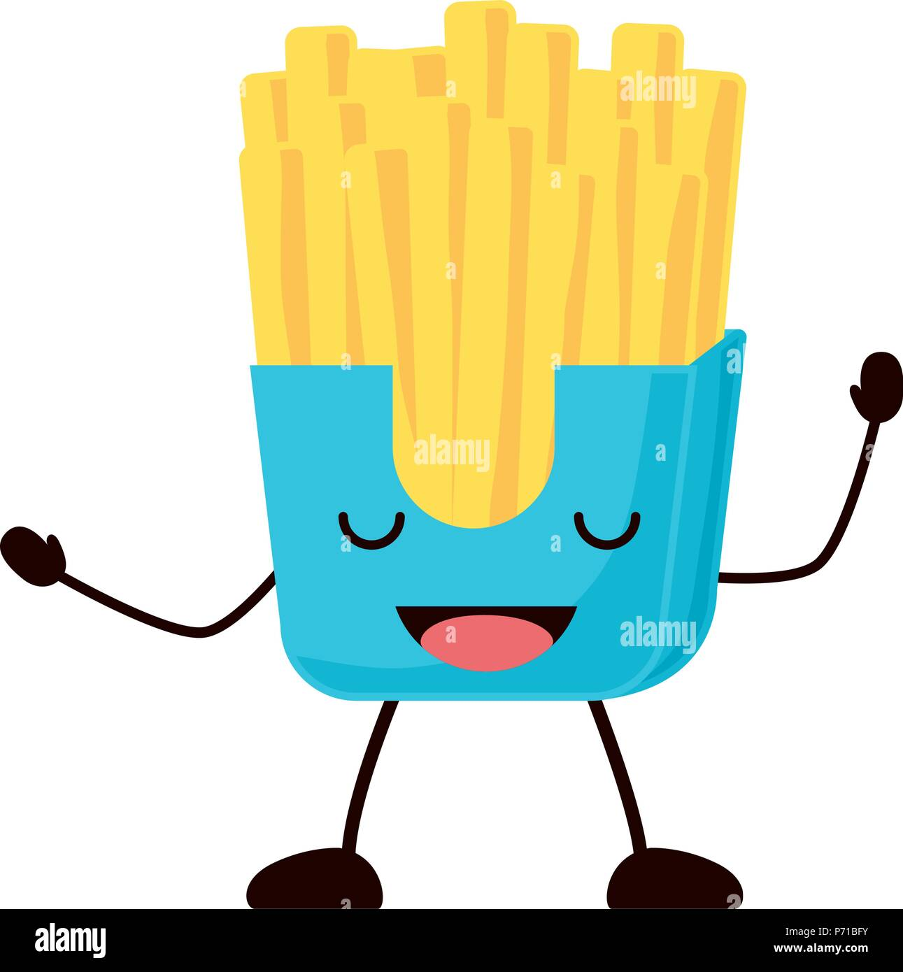 Fries French Fast Food Icon Stock Photos Fries French Fast