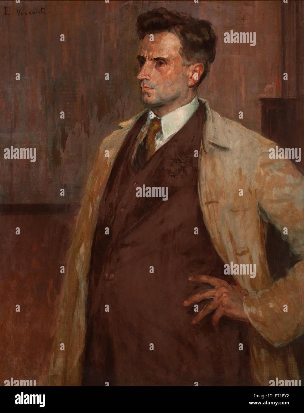 14 Eliseu Visconti - Retrato do escultor João Zacco Paraná - Stock Image