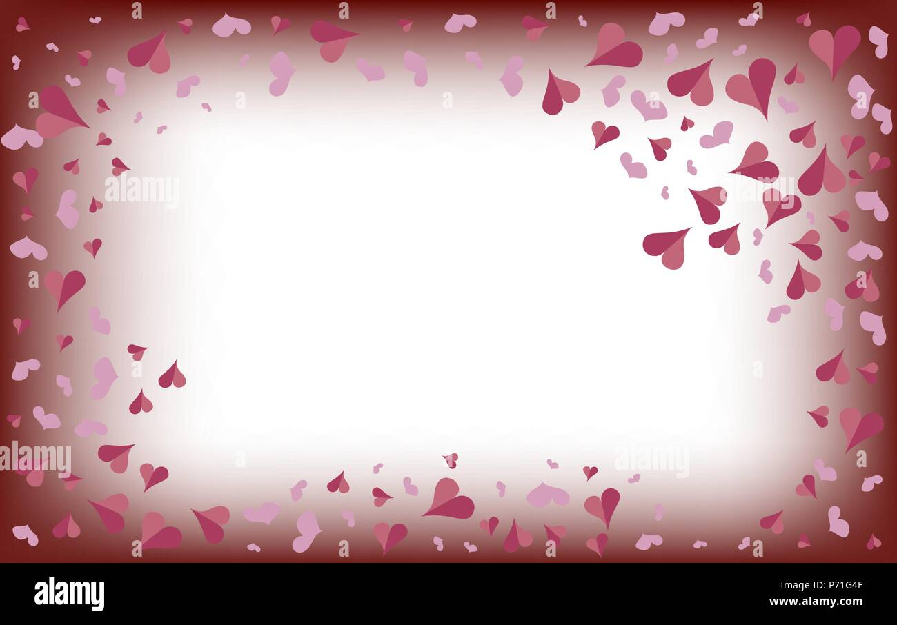Delicate Pink Hearts On A Blurred White Background Valentines Day