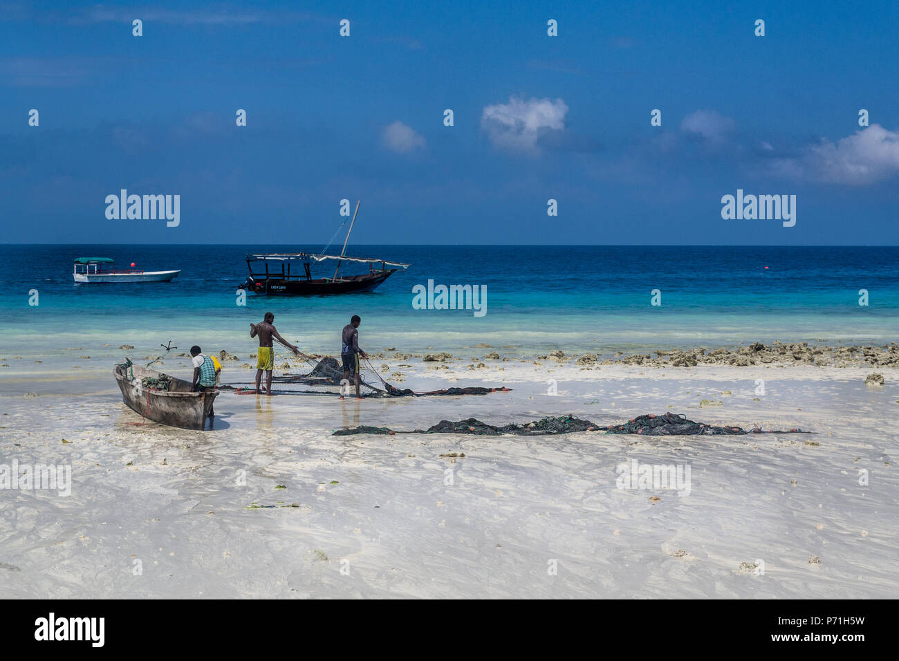Local life and workers in tanzania - Stock Image