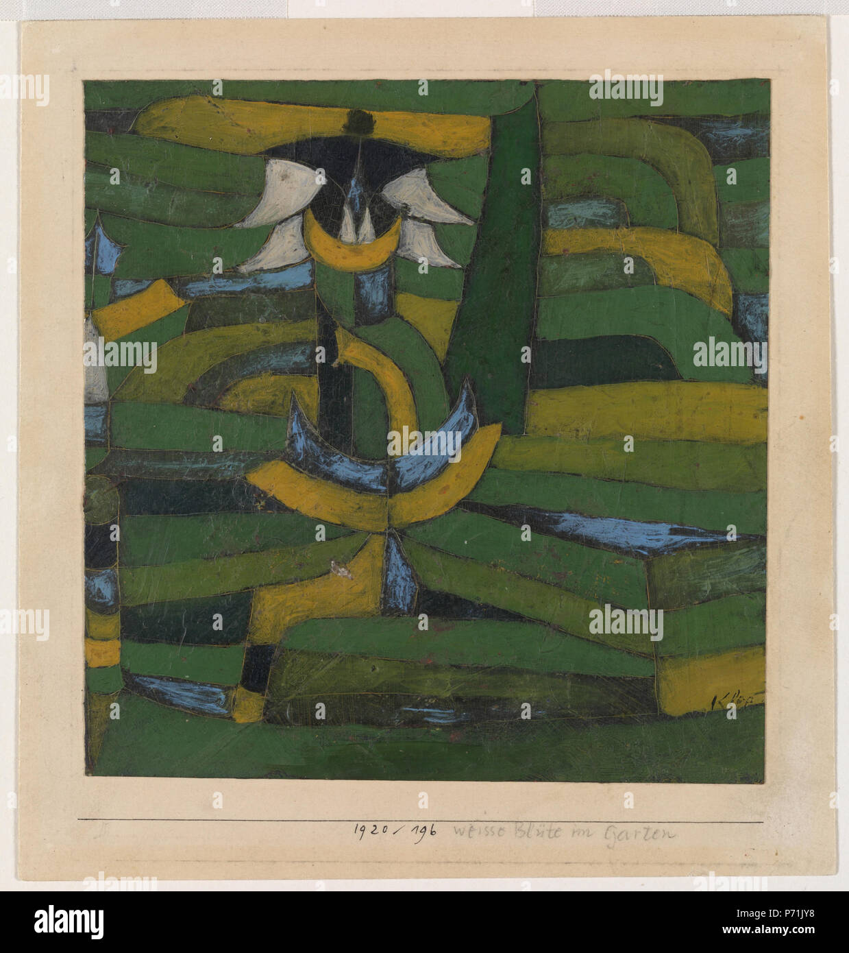 Paul Klee White Blossom In The Garden Weisse Blüte Im Garten 37