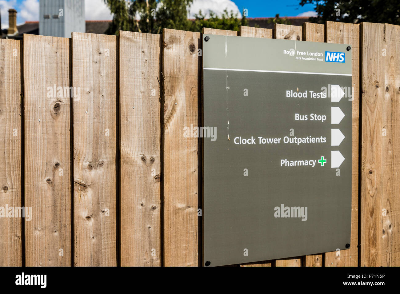 chase farm hospital in Enfield london - Stock Image
