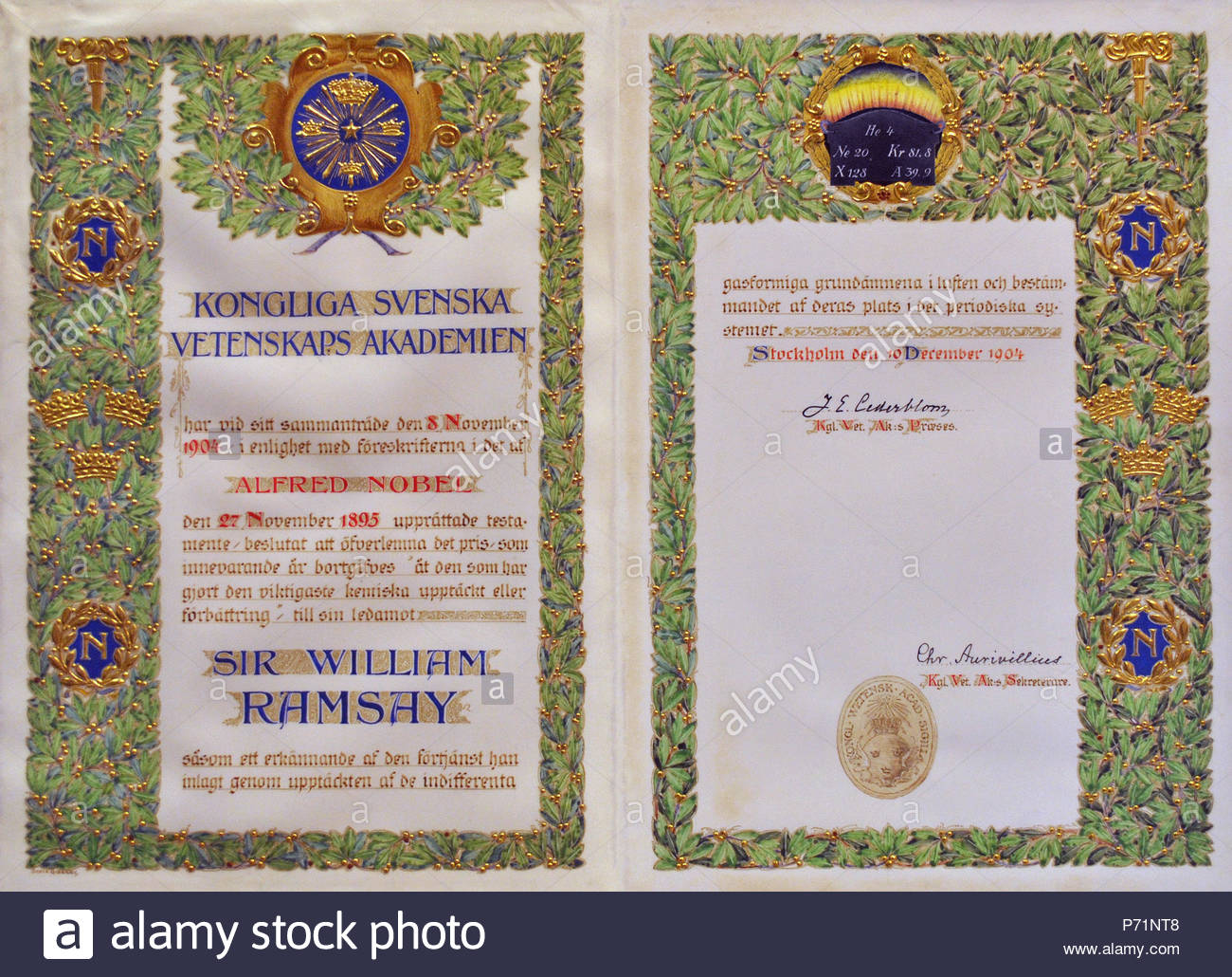 the certificate was produced by artist sofia gisberg according to the nobel foundation website httpwwwnobelprizeorgnobel