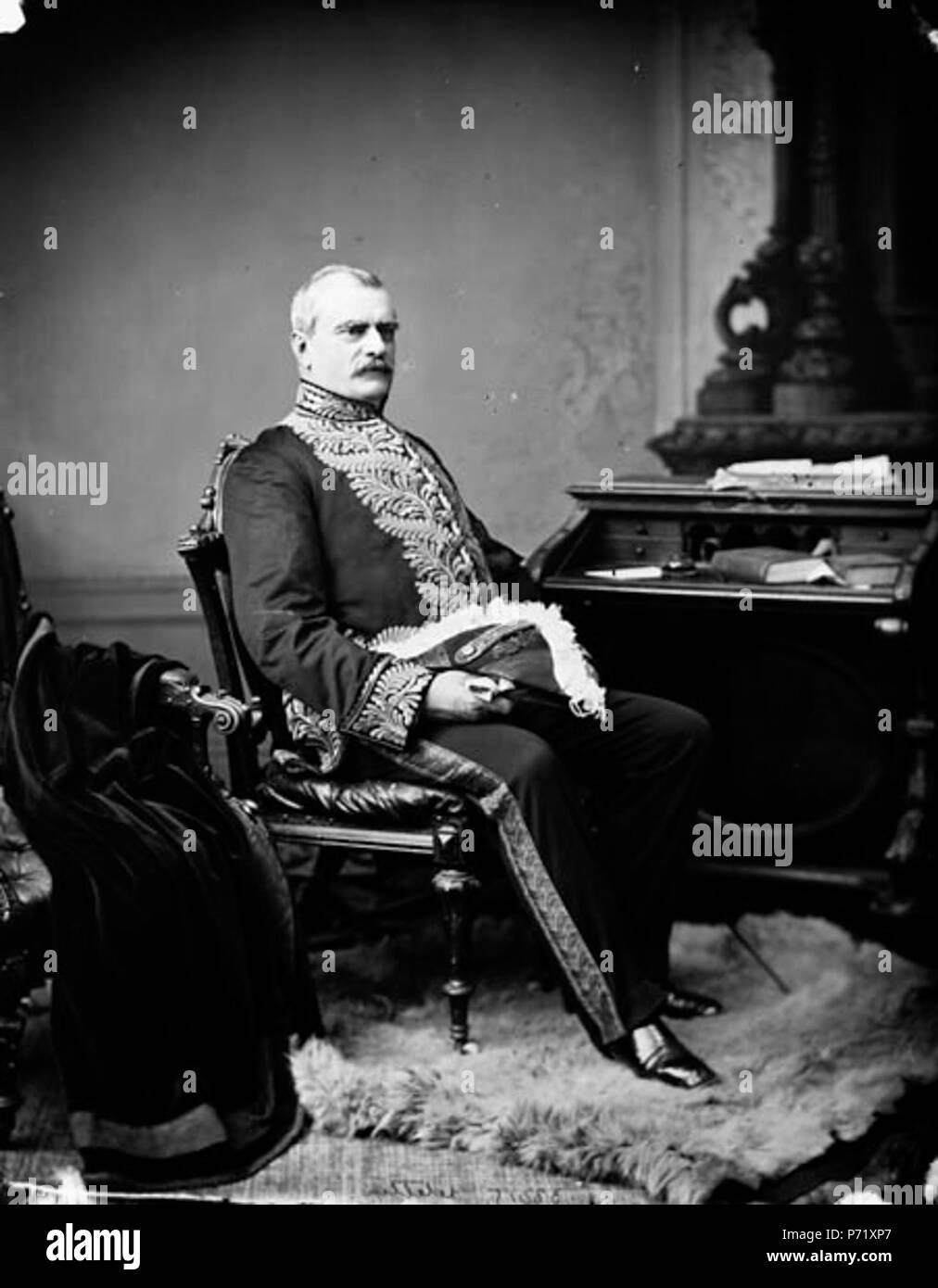 fr:Luc Letellier de Saint-Just, lieutenant-gouverneur du Québec . March 1879 12 Luc Letellier de Saint-Just Stock Photo