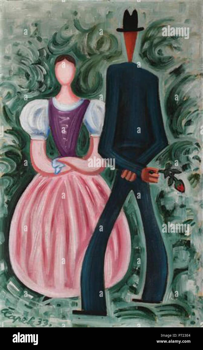 25 Josef Čapek - Oravští milenci (1933) - Stock Image