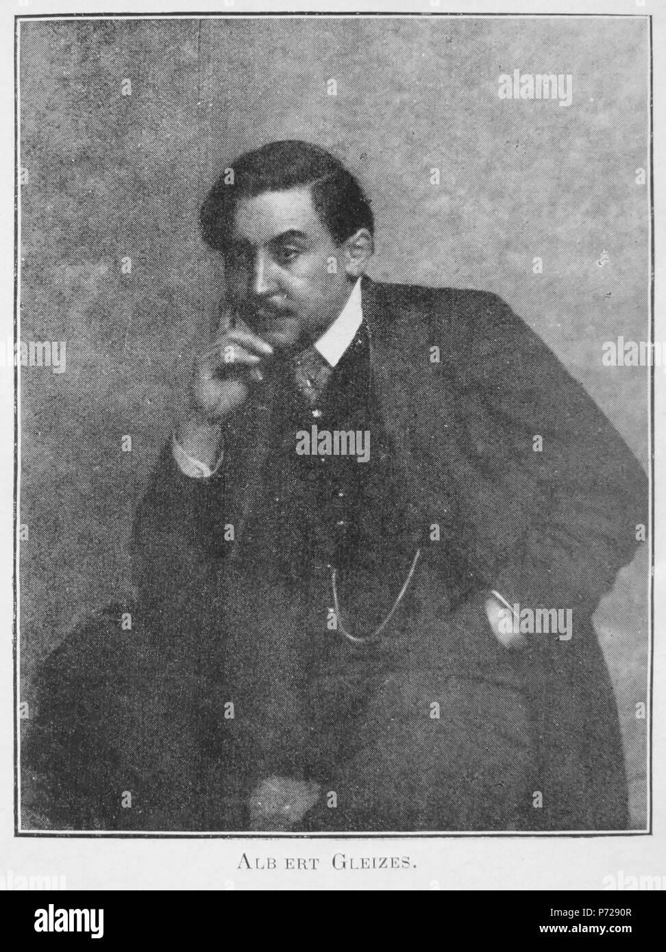 Albert Gleizes, portrait photograph, published in Les Peintres Cubistes, 1913 . 1913 publication 6 Albert Gleizes, portrait photograph, published in Les Peintres Cubistes, 1913 - Stock Image