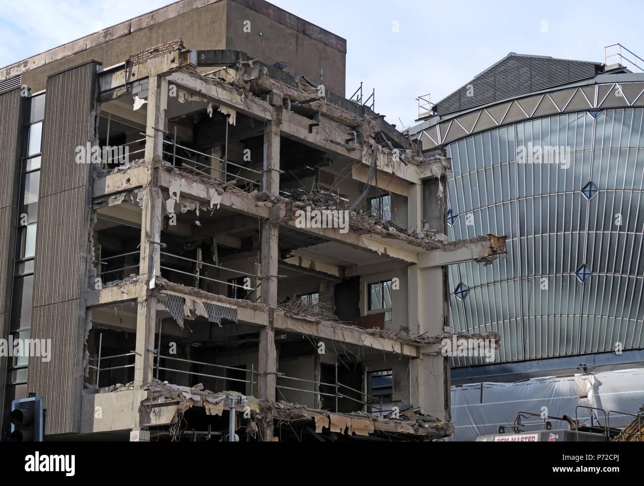 Consort House demolition, Queen Street, Glasgow, City Centre, Scotland, UK,  G1 3DD - Stock Image
